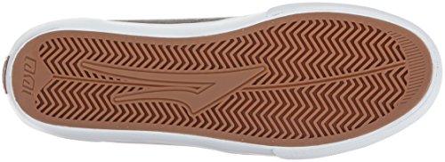 Lakai Mens Gris / Blanc Suède De Chaussure De Planche À Roulettes Griffon
