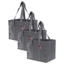 3 Piece Large Collapsible Shopping Box Set Planete by Eco-Stream Charcoal