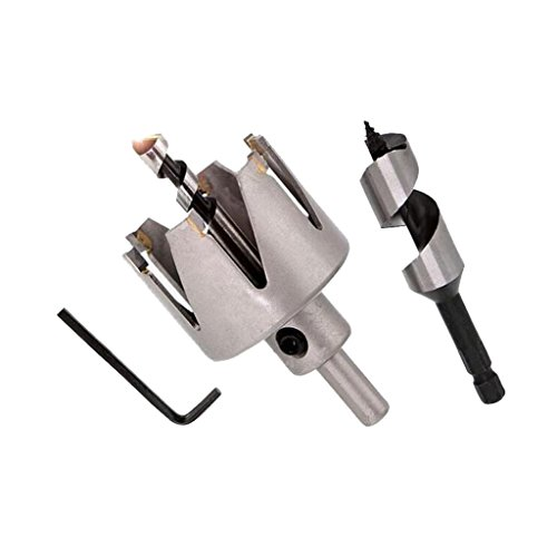 Homyl Door Lock Installation Kit Hole Saw Drill Cutter Auger Bit Woodworking 3pcs/set, Great for spherical door locking perforation - #4 Six Tooth by Homyl