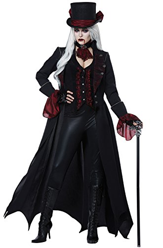 California Costumes Women's Dressed to Kill Adult Woman Costume, Black/Wine, Large