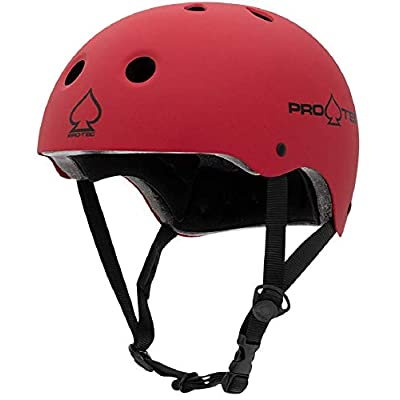 Pro-Tec Classic Certified Skate Helmet (Matte Red, Large) : Sports & Outdoors