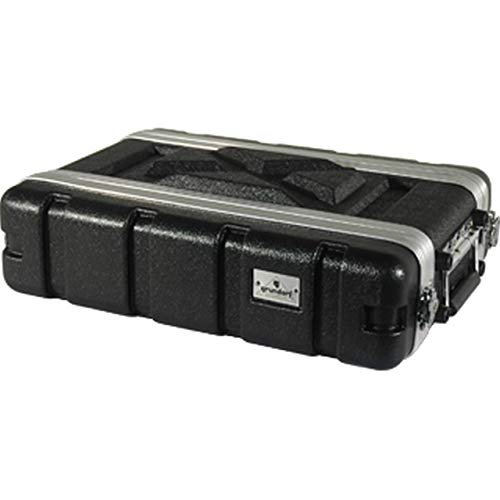 Grundorf Corporation ABS-WR0208B 2 Space Protective Wireless Rack Case from Grundorf Corporation