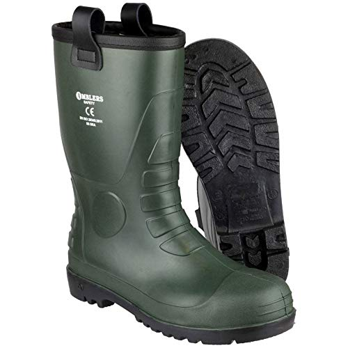 Fs95 Amblers Green Mens Brown Pvc Safety Rigger Boots Waterproof wpwqPrTE