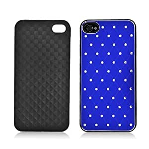 Bloutina Aimo Wireless IPHONE4GPCAC302-UT Premium Chrome Aluminum Hard Case for iPhone 4 - Retail Packaging - Blue-Ultra...