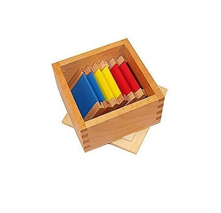 Materiale Montessori, Spolette dei colori, scatola 1, I primari