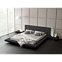 Fujian Modern Bed + 2 Night Stands King (Ash Black)