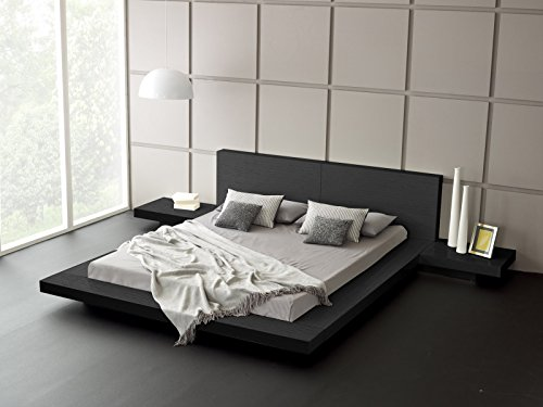 - Matisse Fujian Modern Bed + 2 Night Stands King (Ash Black)
