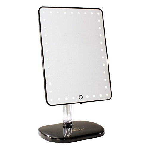 Impressions Vanity Company Touch Pro LED Makeup Mirror with Wireless Bluetooth Audio + Speakerphone & USB Charger, Black, 32 Pound Review