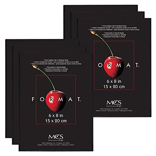 - MCS 6x8 Inch Format Frame 6-Pack, Black (65641)