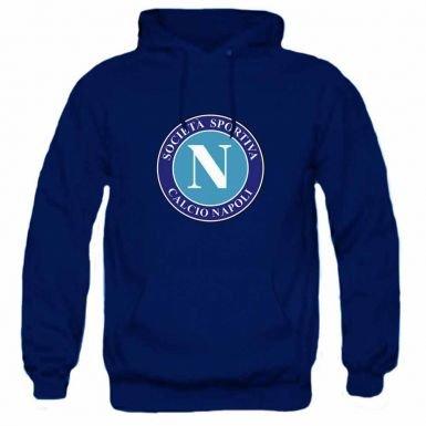 Napoli Adults SSC Retro Soccer Crest Hooded Sweatshirt