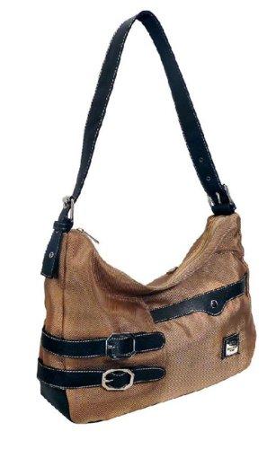 schicke Umhängetasche Handtasche von BERNARDO BOSSI beige