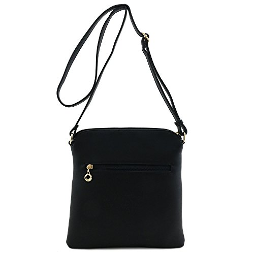 Tassel Zip Pocket Crossbody Bag
