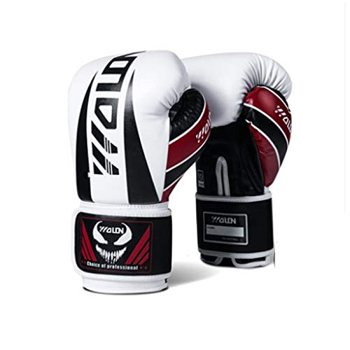 ZHANGQIAO-US Cosmopolitan Boxing Gloves Thickened Professional Fight Sanda Gloves Muay Thai Combat Training Gloves UV Protection Non-Slip Gloves (Color : Black, Size : 8oz)