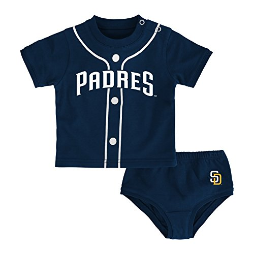 (Outerstuff MLB San Diego Padres Infant Boys Little Player,24 Months,Athletic Navy)