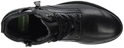Remonte Noir Grau Bottes Schwarz EU Femme Schwarz Noir 37 Motardes D8278 r4xqTr