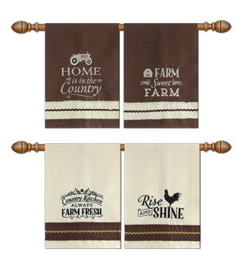 Assorted Canvas Country Towels - Set of 4 by Heart of America