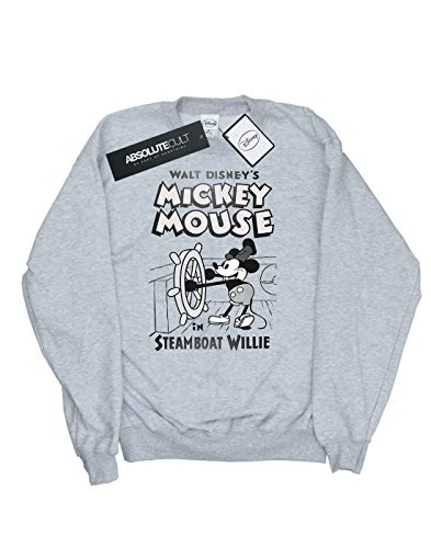 Disney Sweat Gris Mickey Steamboat Sport Mouse Homme Willie shirt rxSqXrw