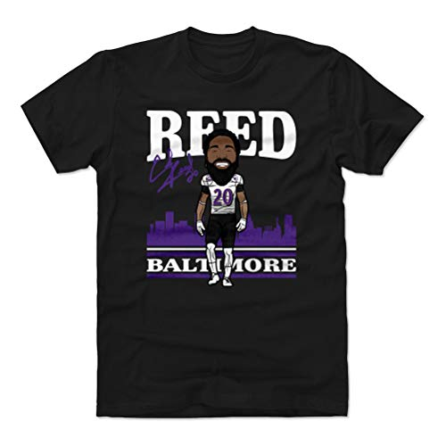 500 LEVEL Ed Reed Cotton Shirt (XX-Large, Black) - Baltimore Ravens Men's Apparel - Ed Reed Toon P - Reed Ed Jersey