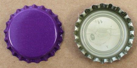 UPC 700254536118, 100 Purple Bottle Caps w/Oxygen Barrier Liner (Pry-Off)