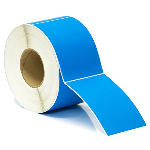 "Thermal Transfer Labels - 4"" x 6"" - Blue - 3"" Core"