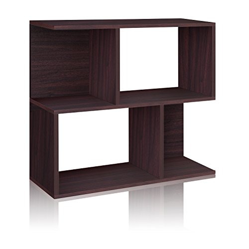 Way Basics Eco Soho Bookcase, Side Table and Storage Shelf, Espresso (made from sustainable non-toxic zBoard paperboard)