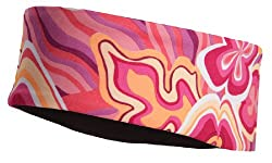 Reversible Athletic Running Headband In Black and Pink Prints From TrailHeads