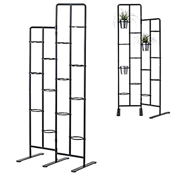 Amazon.com : Vertical Metal Plant Stand 13 Tiers Display Plants Indoor Or  Outdoors On A Balcony Patio Garden Or Use As A Room Divider Or Vertical  Garden ...