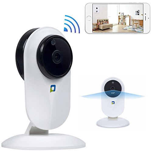 HD 1080P WiFi Security Camera Baby Monitor Camera with Night Version Motion Dection Two-Way ()
