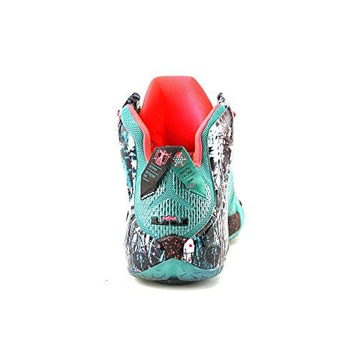 Nike LeBron XII Herren Basketballschuhe Smaragdgrün / Hyper Punch-dunkler Smaragd