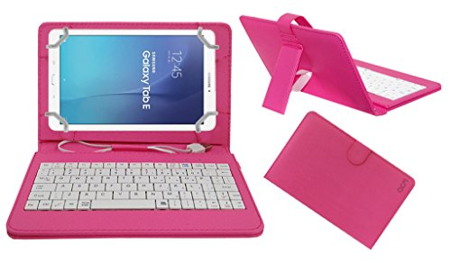 Acm USB Keyboard Case Compatible with Samsung Galaxy Tab E Sm T561 Tablet Cover StandStudy Gaming Direct Plug  amp; Play   Pink