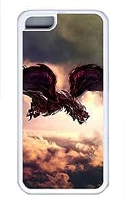 iPhone 5c case, Cute Firedragon iPhone 5c Cover, iPhone 5c Cases, Soft Whtie iPhone 5c Covers