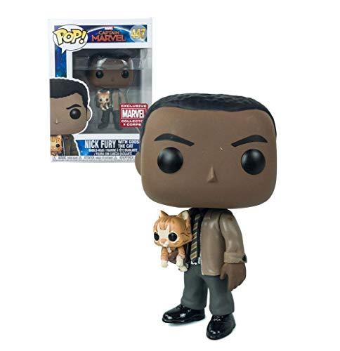 POP! FUNKO Capitan Marvel Nick FURY con Gose el Gato – Exclusivo – Cuerpo de coleccionista