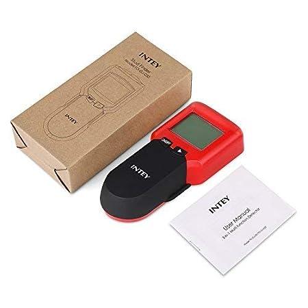 INTEY D/étecteur de Mat/ériaux /Électrique Multi-fonction Avec /Écran LCD et Bip Sonore Stud Finder 3 en 1 D/étecteur M/étal//Tension//Bois en Jaune