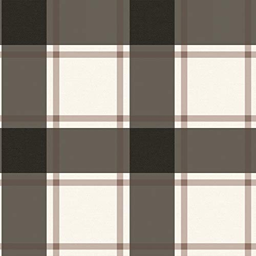 Plaid Wallpaper - Tempaper PL560 Removable Peel and Stick Wallpaper, 20.5