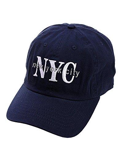 NYFASHION101 Unisex NYC New York City Embroidered Adjustable Low Profile Cap, NY02, Navy from NYFASHION101