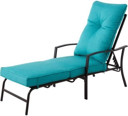 Mainstays Forest Hills Chaise Lounge, Teal