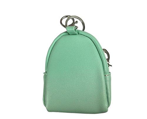 Emartbuy Pu Leder, Süße Mini Schlüsselanhänger Kette Halter, Geldbeutel, Reißverschluss-Tasche Wallet - Banane - Gelb Pu Leder Münze Brieftasche - Omg - Grün