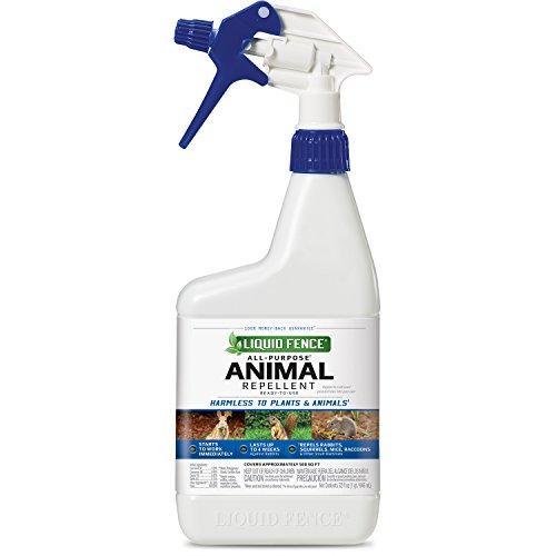 Liquid Fence HG-65007 Purpose Animal Repellent Ready-to-Use, 32 fl oz, 6-Pack, Liquid