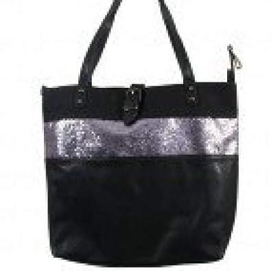 Grand Main Mode Simili Et Noir Shopping Avec À Fermeture Sac Cuir TlFc1KJ3