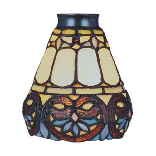 9-21 Tiffany Single Replacement Shade from the Mix-N-Match Collection, Multi Colored Glass ()