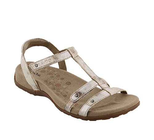 Taos Women's Trophy Dress Sandal, Vintage Silver, 10 M US by Taos