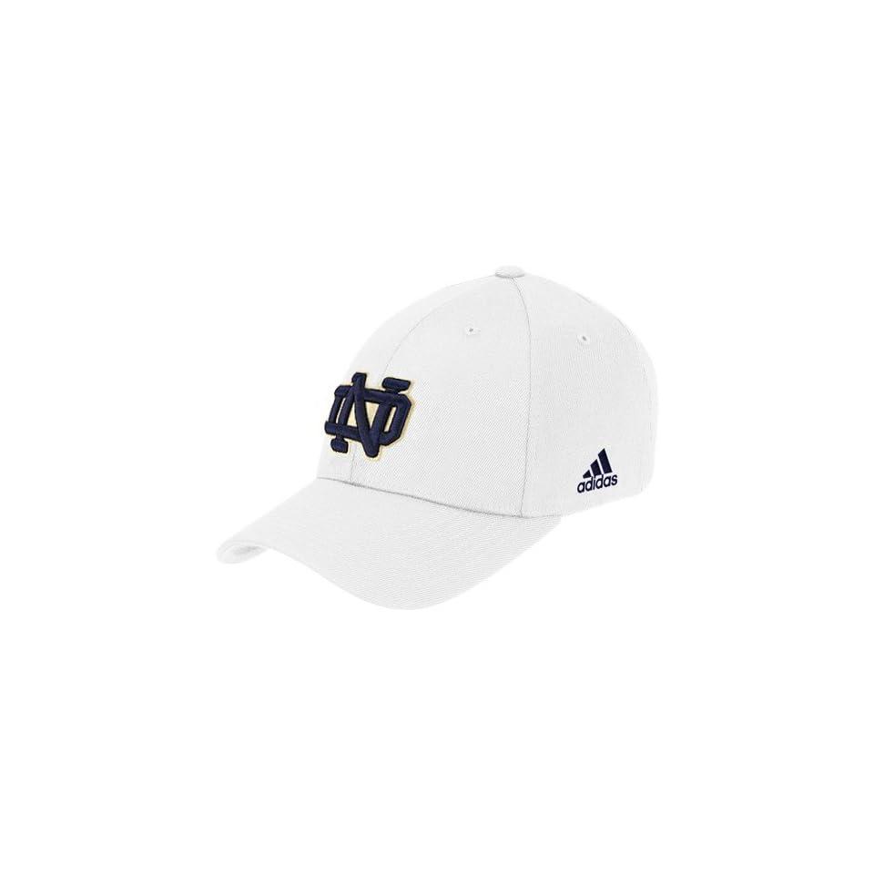 adidas Notre Dame Fighting Irish White Basic Logo Fitted Hat