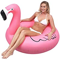 GoFloats Flamingo PartyTube Inflatable Raft Float In Style (for Adults and Kids)
