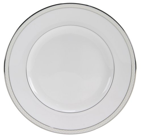 Nikko Ceramics Platinum Beaded Pearl 8-Inch Salad Plate (Pearl Beaded Plate)