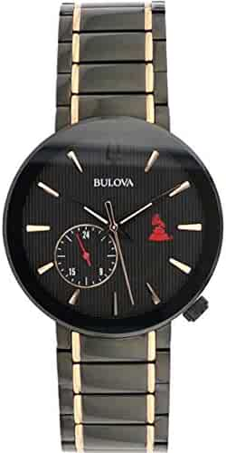 612241b3d Bulova Men's 98A202XG Quartz Latin Grammy Awards Limited Edition Black Dial  Gold Tone Accents 42mm Watch