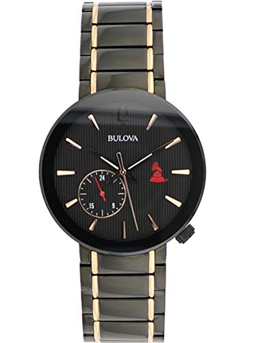 - Bulova Mens 98A202XG Quartz Latin Grammy Awards Limited Edition Black Dial Gold Tone Accents 42mm Watch (Renewed)