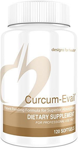 Cheap Designs for Health – Curcum-Evail – Bioavailable Curcumin + Turmeric Oil, 120 Softgels