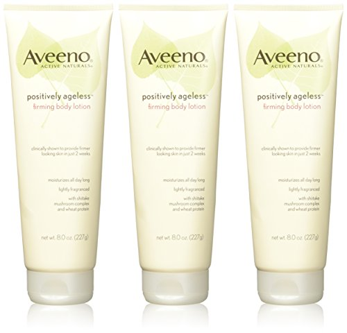 41R7D4aPUdL - Aveeno Active Naturals - Positively Ageless Firming Body Lotion - Firmer Looking Skin In Just 2 Weeks - Net Wt. 8 OZ (227 g) Each - Pack of 3
