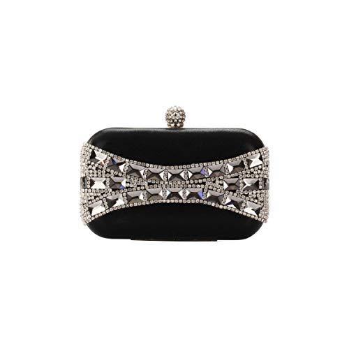 Mode La À La Homme La De Verre Mode Bandoulière Chaîne À De Noire Sac Avec Xingf De Sac Main Velours Diamant Mode 6w5x4Aq
