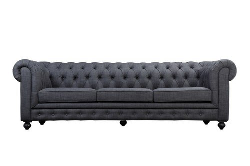 Amazon.com: Pangea Home Z Grey Chester 3 Seater Sofa in ...